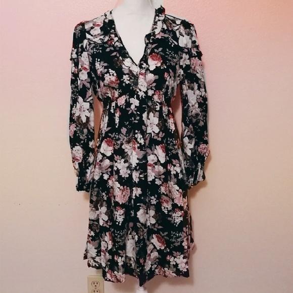 14c124ab5257 wild meadow Dresses | Empire Waist Ruffled Babydoll Floral Dress ...